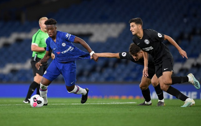 Callum Hudson-Odoi played for just over ran hour in his comeback appearance