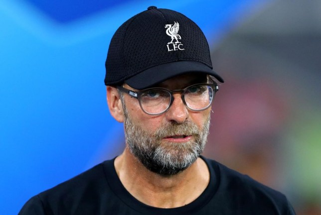 Jurgen Klopp looks on angrily after Liverpool's defeat to Napoli