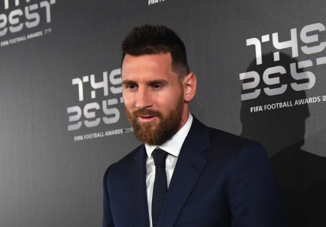 Lionel Messi arrives at the FIFA Football Awards