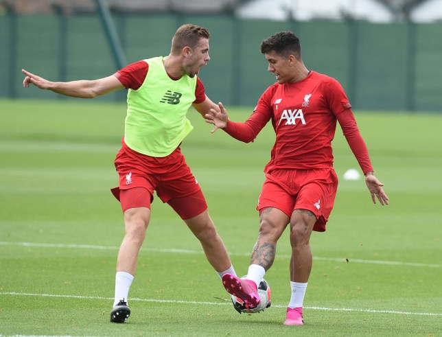 Jordan Henderson and Roberto Firmino are on the bench for Liverpool's Premier League clash with Newcastle