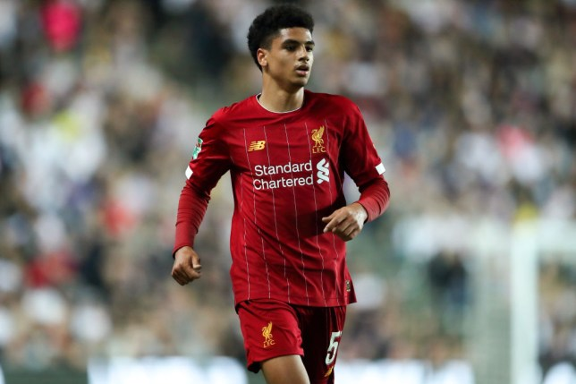 Ki-Jana Hoever during Liverpool's win over MK Dons in the Carabao Cup