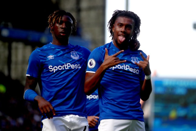 Alex Iwobi has scored two goals in three appearances since moving to Everton