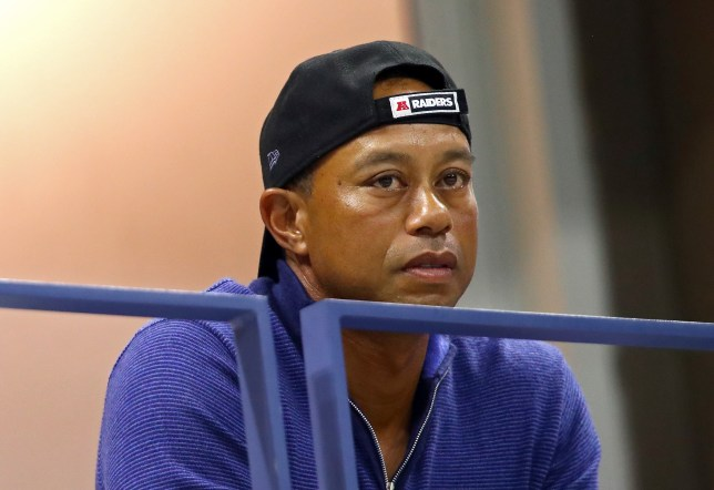 Tiger Woods was spotted watching Rafael Nadal at the US Open last night