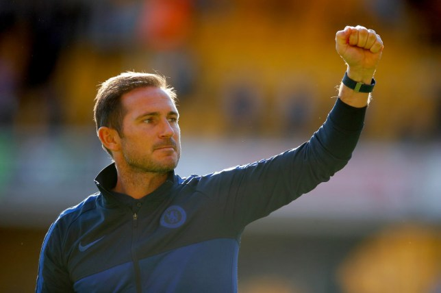 Frank Lampard celebrates Chelsea's win over Wolves