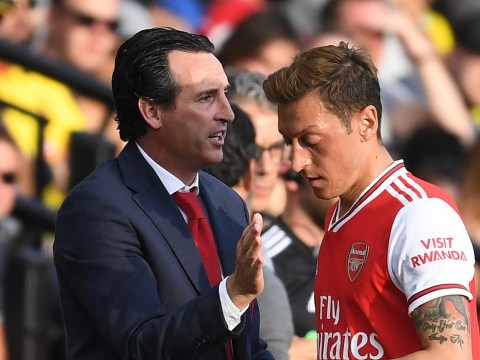 Unai Emery explains why he's left Mesut Ozil and Sokratis Papastathopoulos at home for Eintracht Frankfurt clash