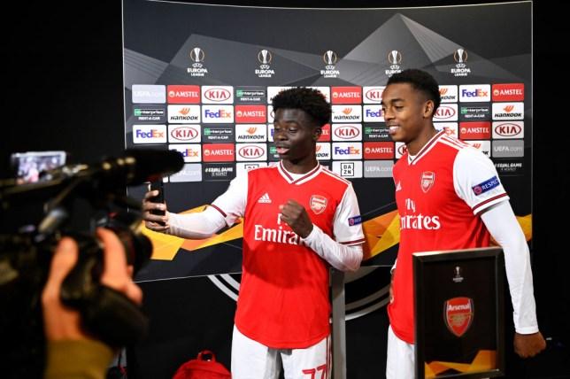 Bukayo Saka and Joe Willock stole the show against Frankfurt (Picture: Getty)