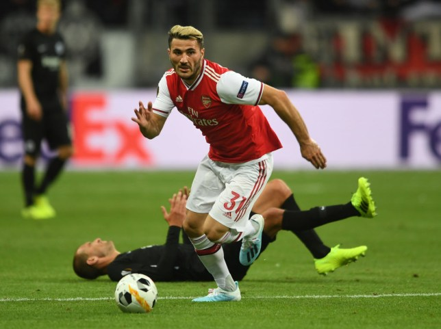 Sead Kolasinac was struggling with a 'small problem' during Arsenal's clash with Eintracht Frankfurt