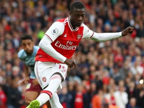 Pierre-Emerick Aubameyang let Nicolas Pepe take Arsenal's penalty against Aston Villa, says Unai Emery