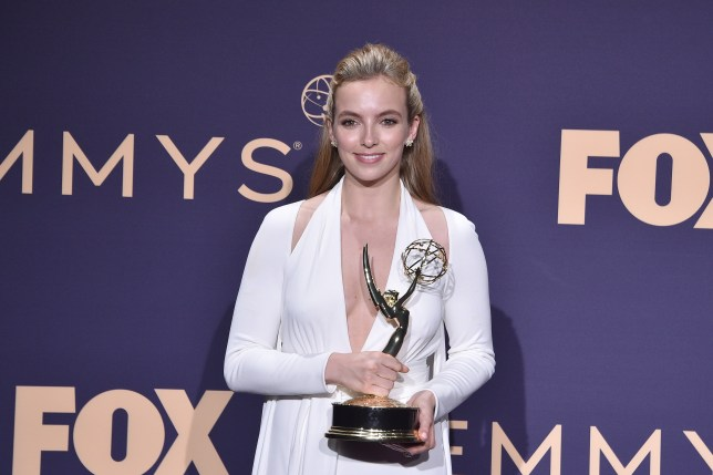 Jodie Comer with her Emmy Award at the 71st annual Emmys