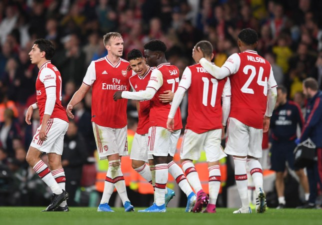 Rob Holding captained a young Arsenal side to a 5-0 win over Nottingham Forest in the Carabao Cup
