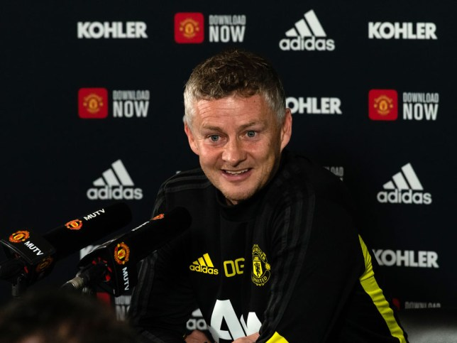 Ole Gunnar Solskjaer speaks at a press conference