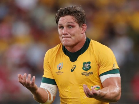 Australia captain Michael Hooper argues with referee over 'terrible tackle' during Wales clash