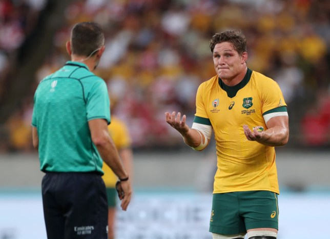 Michael Hooper was frustrated at Jerome Garces' refereeing of the game