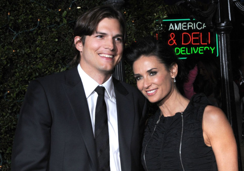 Ashton Kucther and Demi Moore