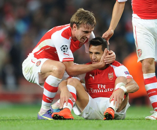 Nacho Monreal has hailed Alexis Sanchez as the best he played with at Arsenal