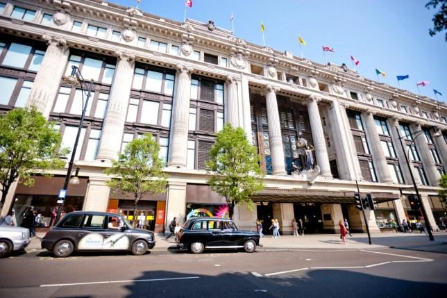 selfridges on Oxford Street, London