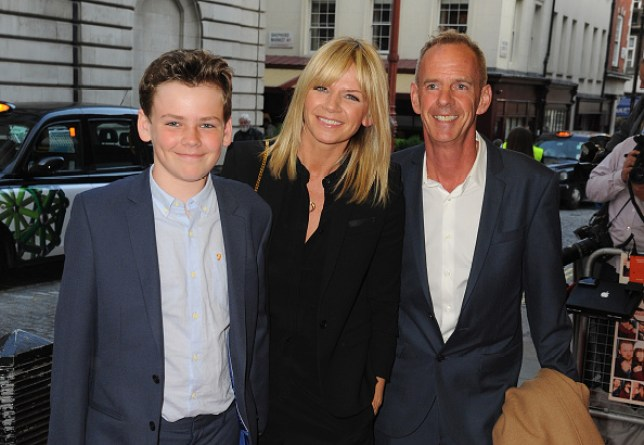 Woody Cook, Zoe Ball and Norman Cook at an event