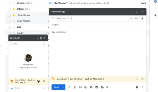 Gmail's new 'out of office' feature alerts colleagues before