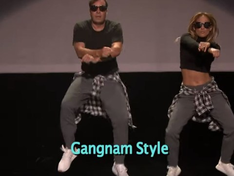 Jennifer Lopez shows us how it's done in The History of Music Video Dancing segment with Jimmy Fallon