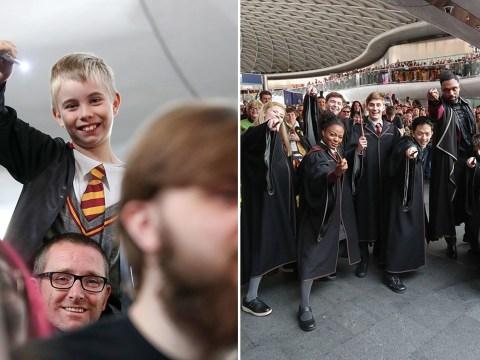 Hundreds of Harry Potter fans descend on King's Cross to mark return to Hogwarts
