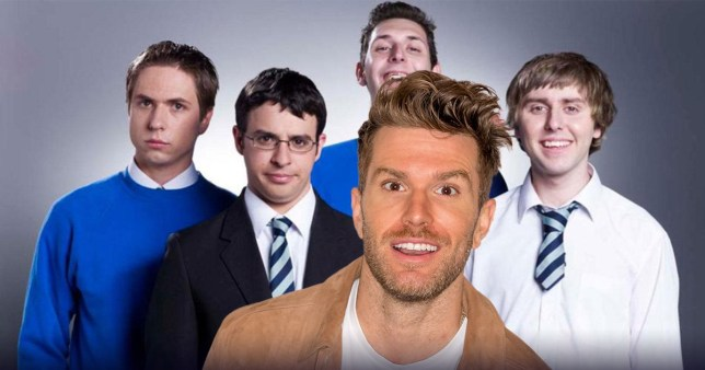 Joel Dommett and The Inbetweeners cast