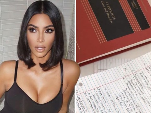 Kim Kardashian studies legal contracts and revises for bar exam amid Labour Day celebrations