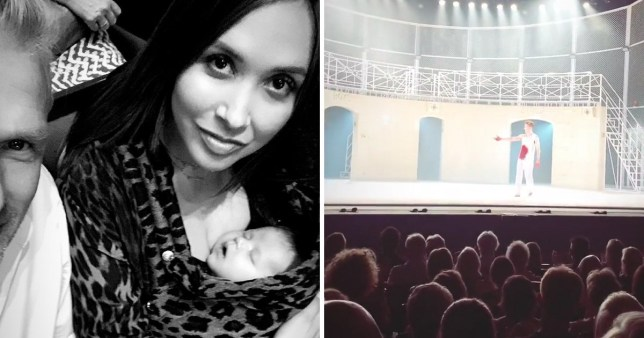 Myleene Klass at the ballet with her baby