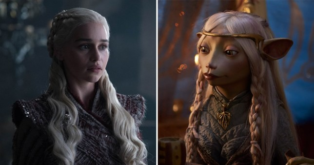 Danerys in Game of Thrones and Seladon in Dark Crystal