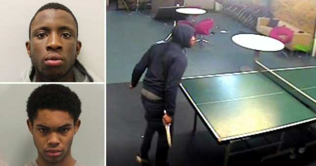 Moment attackers storm youth club and hack man, 23, to death