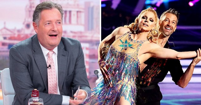 Piers Morgan and Courtney Act
