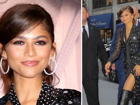 Zendaya is the queen of polka dots as she attends Lancome beauty event in New York City