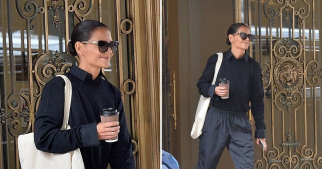 Katie Holmes looks carefree as she visits Columbia University amid Jamie Foxx split rumours