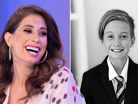 Stacey Solomon has all the feels as her eldest son Zachary starts secondary school