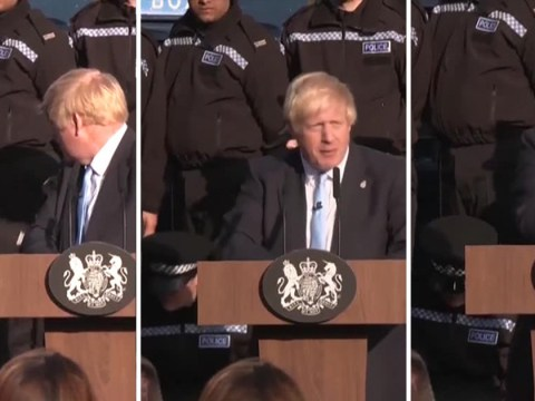 Police recruit 'collapses' during speech by Boris Johnson