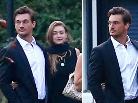 Gigi Hadid supported by 'boyfriend' Tyler Cameron at her grandmother's funeral in the Netherlands