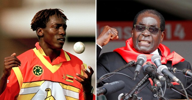 Henry Olonga says he 'got no pleasure from Robert Mugabe's death (Picture:: Getty/Reuters)