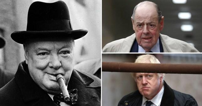 Winston Churchill, Sir Nicholas Soames and Boris Johnson