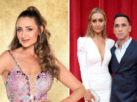 Catherine Tyldesley's husband isn't worried about the Strictly curse despite his mates saying she will 'run off' with her partner