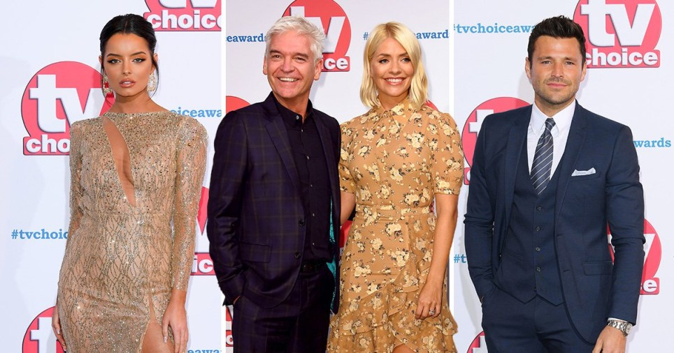 Holly Willoughby, Phillip Schofield and Maura Higgins lead the glam pack on TV Choice Awards 2019 red carpet