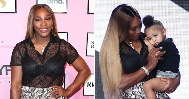 Serena Williams and daughter Olympia at NYFW