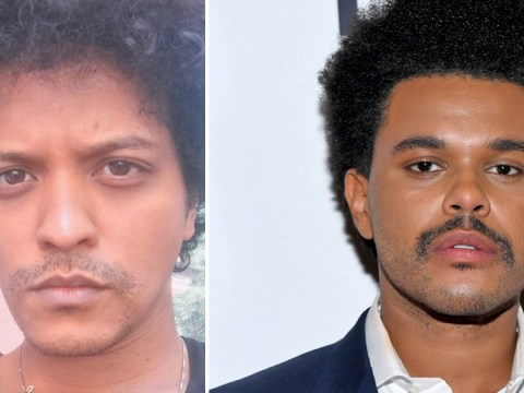 Bruno Mars convinced The Weeknd stole his 'tache and he's not happy about it
