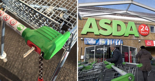 key hack for using a trolley without a £1 coin