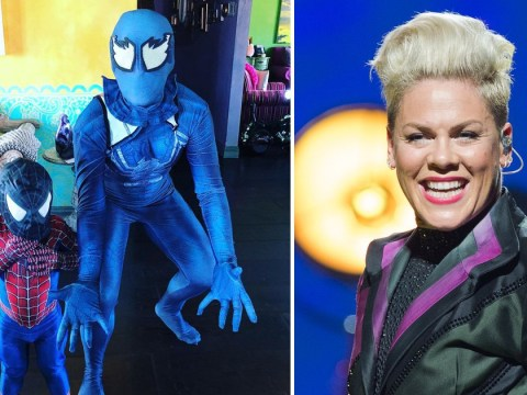 Pink's spidey senses are tingling as she picks Halloween costume a little early