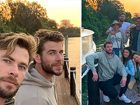 Liam Hemsworth looks happy as Larry as brother Chris takes mind off Miley Cyrus divorce with family holiday