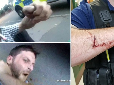 Moment PCSO was stabbed as he tried to stop wanted thief