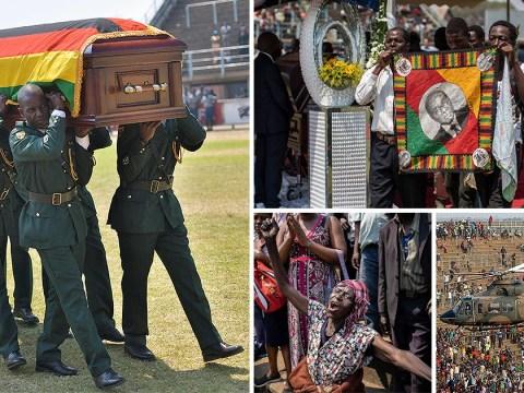 Stampede at Robert Mugabe's state funeral leaves several injured