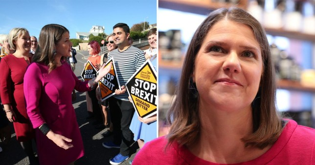 Jo Swinson arrives at 2019 Liberal Democrat party conference at the Bournemouth International Centre