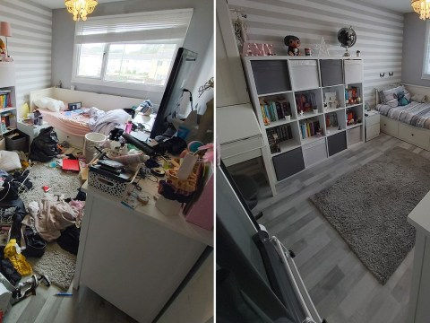 Mum shares incredible one-day transformation of her autistic daughter's messy room