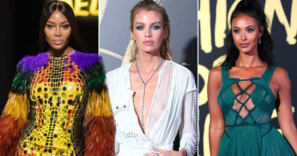Naomi Campbell, Stella Maxwell and Maya Jama