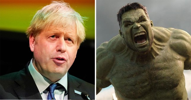 Actor Mark Ruffalo has questioned Boris Johnson's Hulk comments (Picture: PA/Marvel)